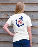 Nautical Vines Anchor Monogram T-shirt