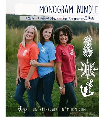 Left Chest Nautical Monogram Mania Shirt Bundle