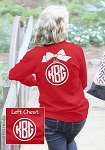 Long Sleeve Preppy Ornament Monogram Shirt
