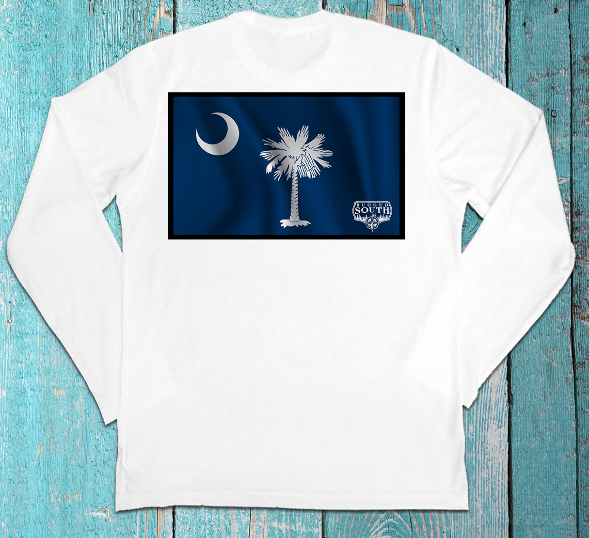 Rugged South SC Flag Long Sleeve Shirt