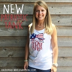 Patriotic Monogram Comfort Color Tank