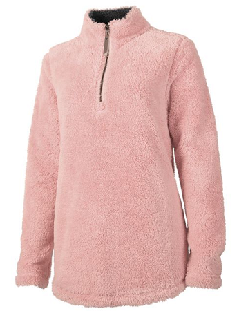 Powder Pink Newport Fleece Pullover | underthecarolinamoon.com