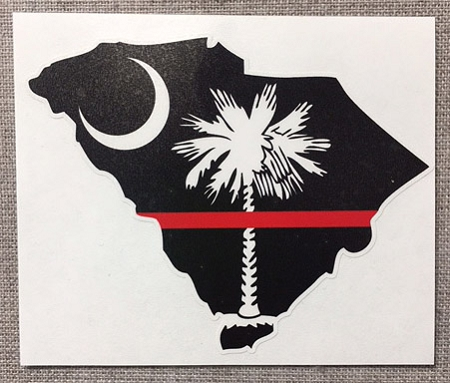 Thin Red Line State Decal