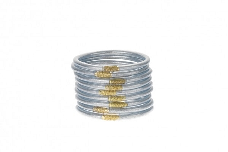 Budha Girl All Weather Silver Bangles