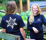 Long Sleeve Preppy Snowflake Monogram Shirt