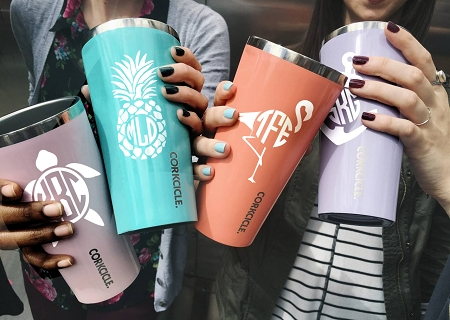Summer Monogram Cup Decal