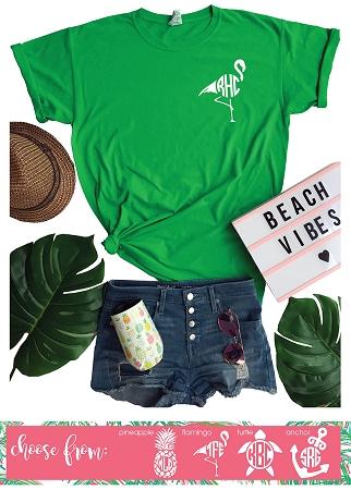 1c03c5cdf71 Left Chest Summer Monogram Shirt Flash Sale