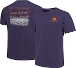 Clemson Tigers Purple Football T-Shirt