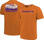 Clemson Tigers Orange Campus Scene Waves T-Shirt