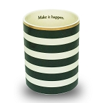 Ceramic Pencil Cup Black Stripes