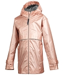 Preppy Monogrammed Youth Rose Gold Rain Jacket