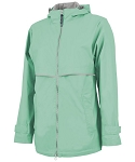 Mint Preppy Monogram Rain Jacket
