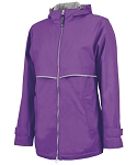 Preppy Monogrammed Purple Rain Jacket