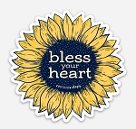 Southernology® Bless Your Heart Flower Decal
