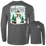 Southernology Baby It's Cold Leopard Snowman Long Sleeve
