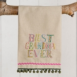 Best Grandma Ever Hand Towel | underthecarolinamoon.com