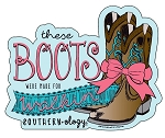 Southernology® Boots Were Made For Walkin' Decal