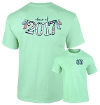 Graduation Banner Monogram T Shirt