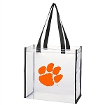 Clemson Tigers Clear Paw Tote Bag