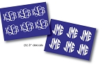 6 Pack Monogrammed 3 Inch Decal Pack