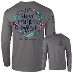 Southernology® Charcoal Feathers Ruffled Long Sleeve