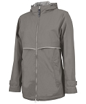 Grey Preppy Monogrammed Rain Jacket