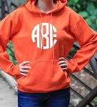 Center Monogram Adult Hoodie