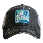 Lake Hair Don't Care Sailboat Patch Trucker Hat