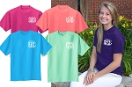 Short Sleeve Vines Left Chest Monogram T-shirt