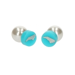 Acrylic and Pearl 360° State Stud Earring