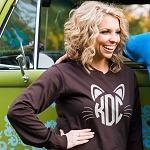 Long Sleeve One Color Halloween Monogram Shirt