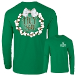Southernology® Hey Y'all Cotton Wreath Long Sleeve T Shirt