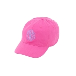 Kids Pink Monogram Ball Cap