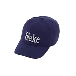 Kids Navy Monogram Ball Cap