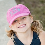 Kids Monogram Ball Cap