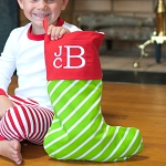 Bright Stripe Christmas Stocking