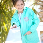 Solid Mint Kids Rain Jacket