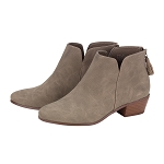 Taupe Monogrammed Hudson Boots