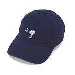 Navy Palmetto Tree Ball Cap