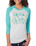 Palmetto Trees Pattern Monogram Raglan