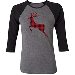 Plaid Animal Silhouette Raglan