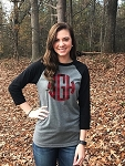 Raglan Plaid Monogram Shirt