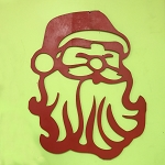 Christmas Santa Wooden Door Hang
