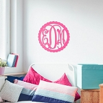 22 Inch Scallop Wood Monogram