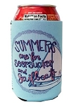 Ashton Brye™ Seersucker & Sailboats Coozie