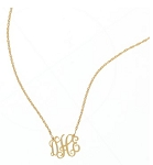 Small Gold Plated Interlocking Filigree Necklace