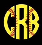 Softball Monogram Cup Decal