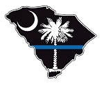 Thin Blue Line State Decal