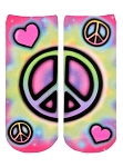 Living Royal Tye Dye Peace Ankle Socks