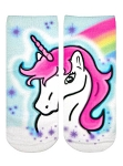 Living Royal Unicorn Dreams Airbrush Ankle Socks